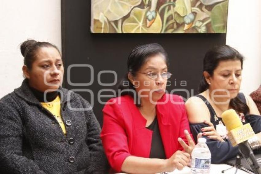 Socorro Quezada, encabezo la rueda de prensa de la Red Plural de Mujeres. //Martha Gutiérrez/Agencia Enfoque//