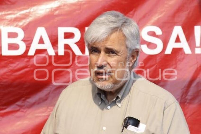 José Narro Céspedes, senador por Morena, durante rueda de prensa. //Martha Gutiérrez/Agencia Enfoque//