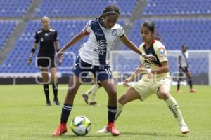 FUTBOL FEMENIL . CLUB PUEBLA VS AMERICA