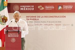 PRESIDENCIA . INFORME RECONSTRUCCIÓN