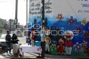 MURAL . USO DE CUBREBOCAS