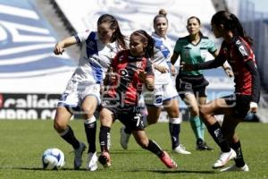 FÚTBOL FEMENIL . CLUB PUEBLA VS ATLAS