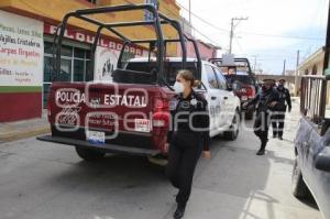 HUEJOTZINGO . OPERATIVO POLICÍA