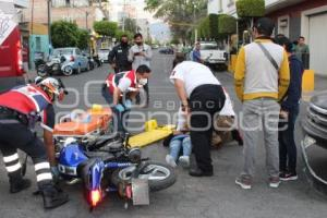 TEHUACÁN . ACCIDENTE MOTOCICLISTAS