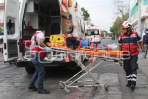 TEHUACÁN . ACCIDENTE MOTOCICLISTAS