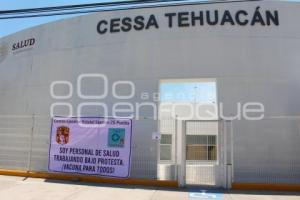 TEHUACÁN . PROTESTA SALUD