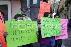 PROTESTA JUEGOS MECÁNICOS