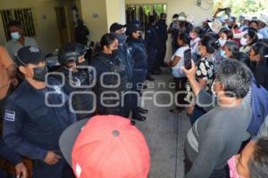 TOCHIMILCO . PROTESTA ELECCIONES