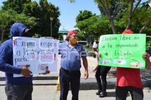 TEHUACÁN . MANIFESTACIÓN