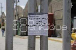 SOAPAP . CLAUSURA BODEGAS