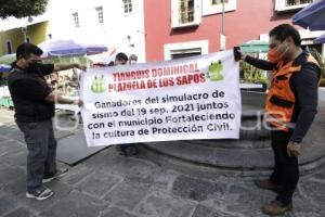 SIMULACRO SISMO . LOS SAPOS