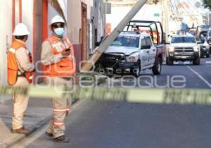 POLICÍA ESTATAL . CHOQUE PATRULLA